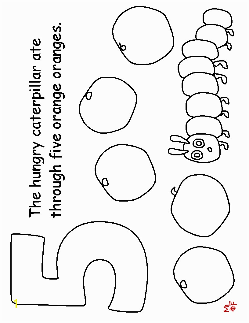 Hungry Caterpillar Coloring Pages Very Hungry Caterpillar Coloring Pages Printables The Very Hungry