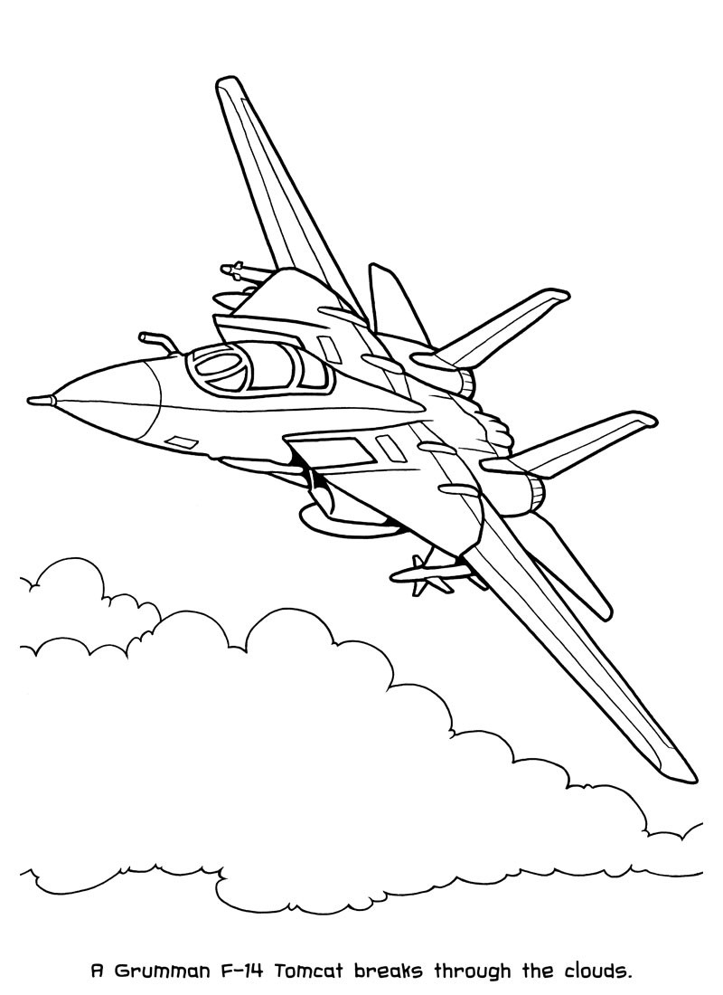 Jet Coloring Pages Blue Angels
