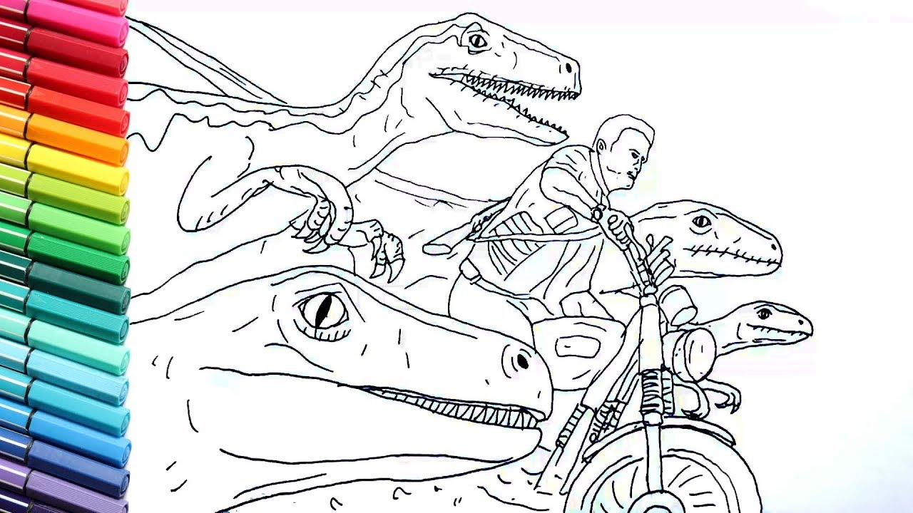 Jurassic World Coloring Pages Drawing And Coloring ...