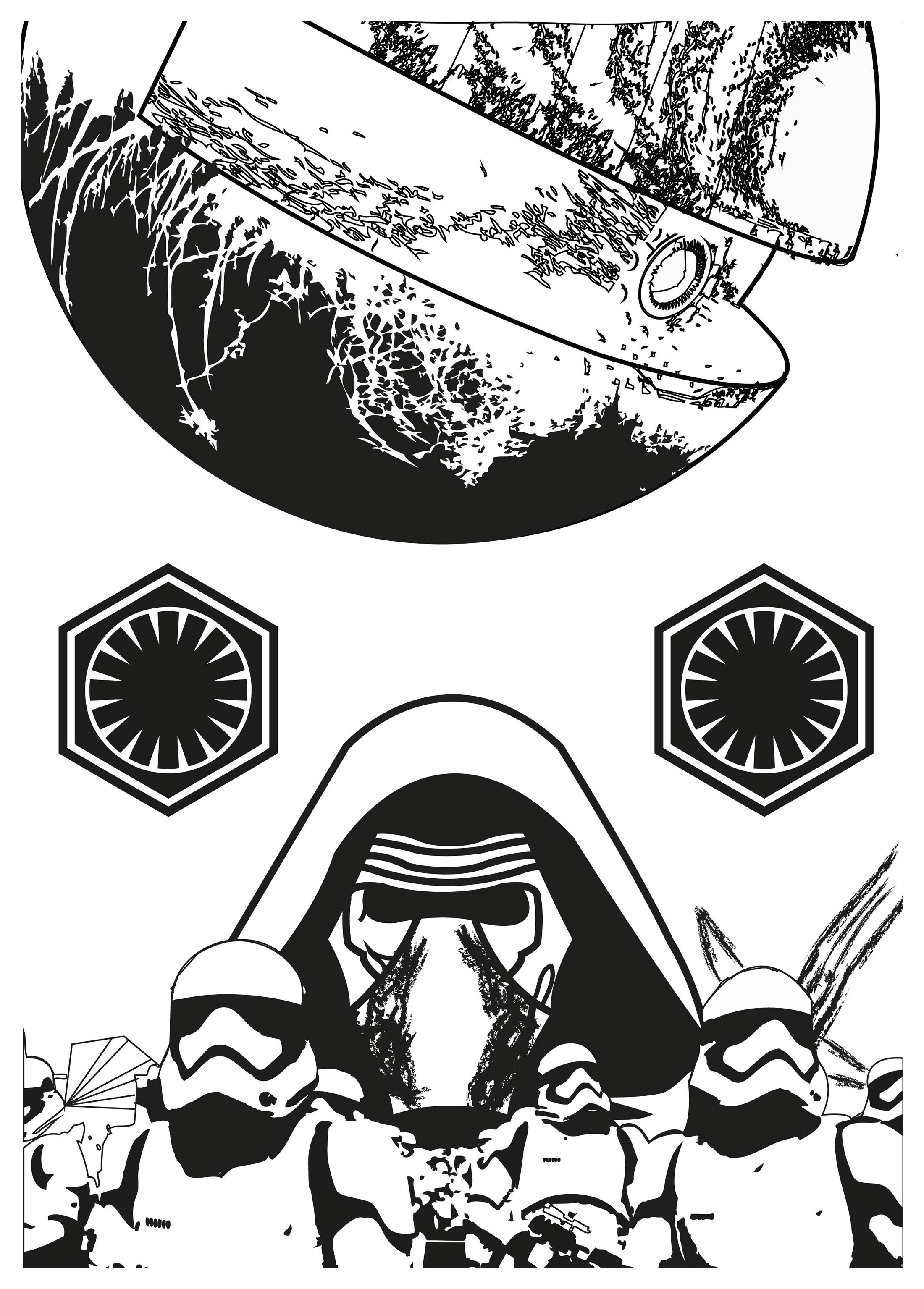 great image of kylo ren coloring page  entitlementtrap