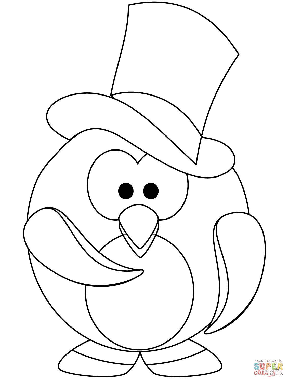Penguin Coloring Page Penguins