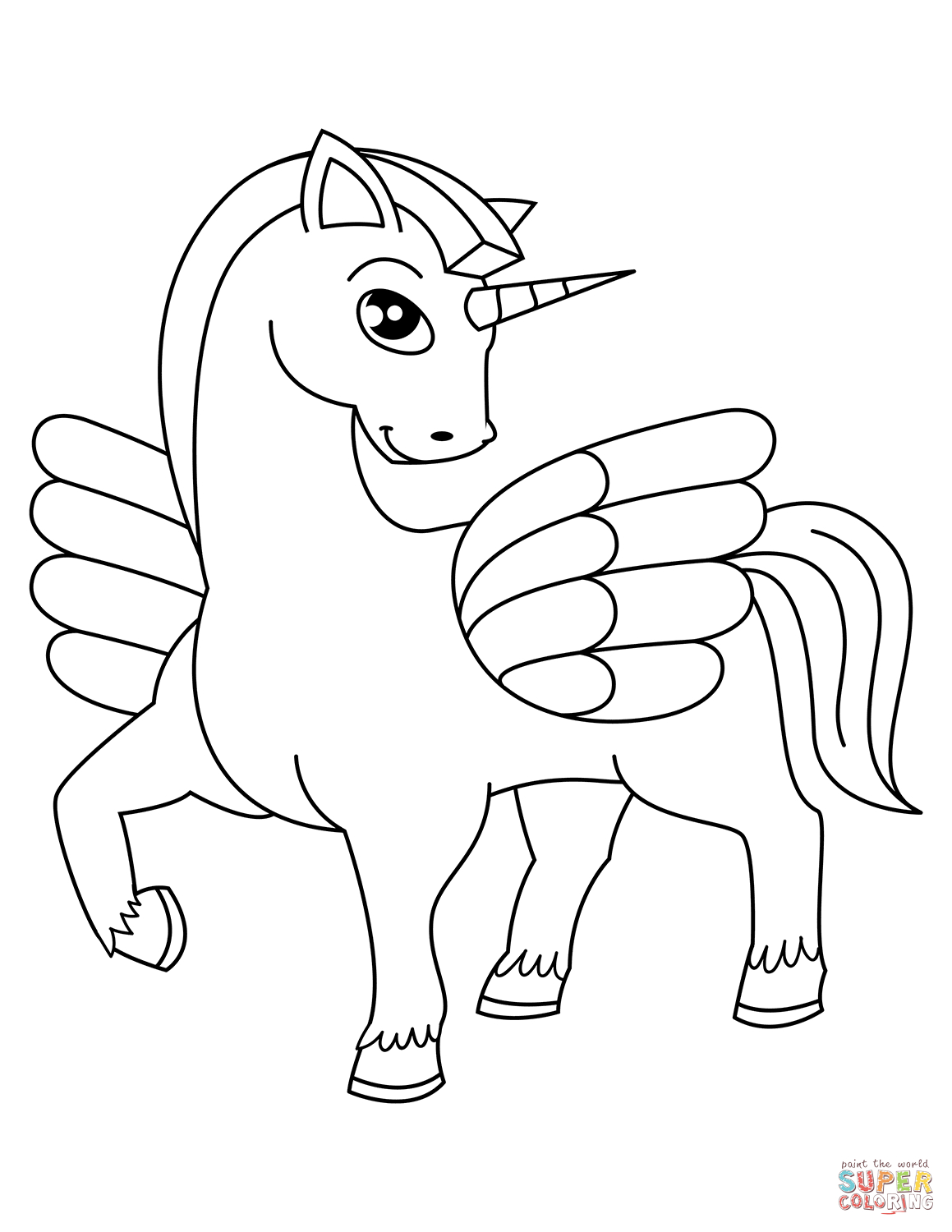 Printable Unicorn Coloring Pages