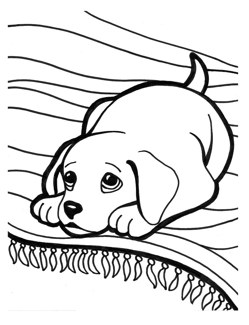 Puppy Coloring Pages Puppy Coloring