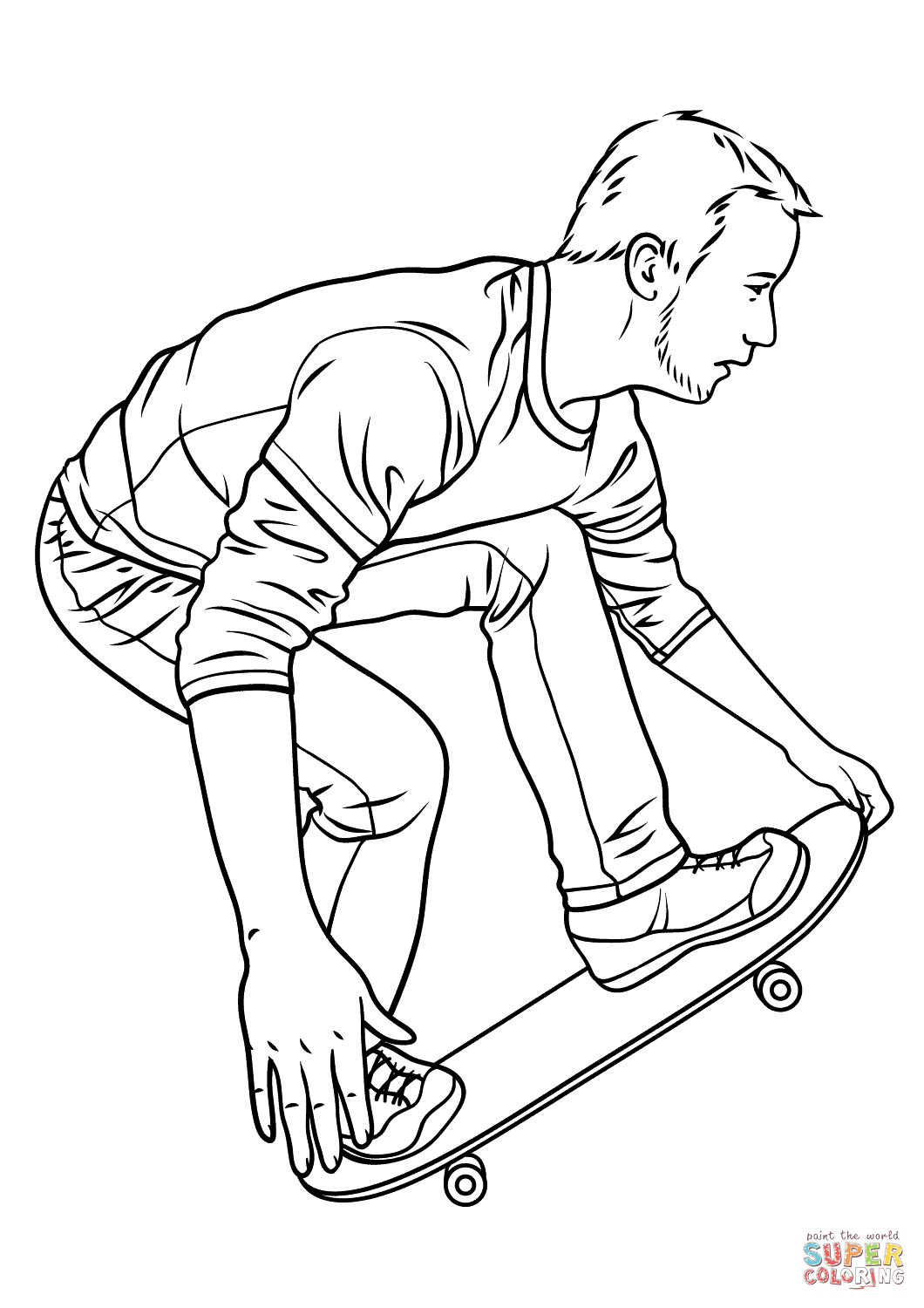 27+ Marvelous Image of Skateboard Coloring Page