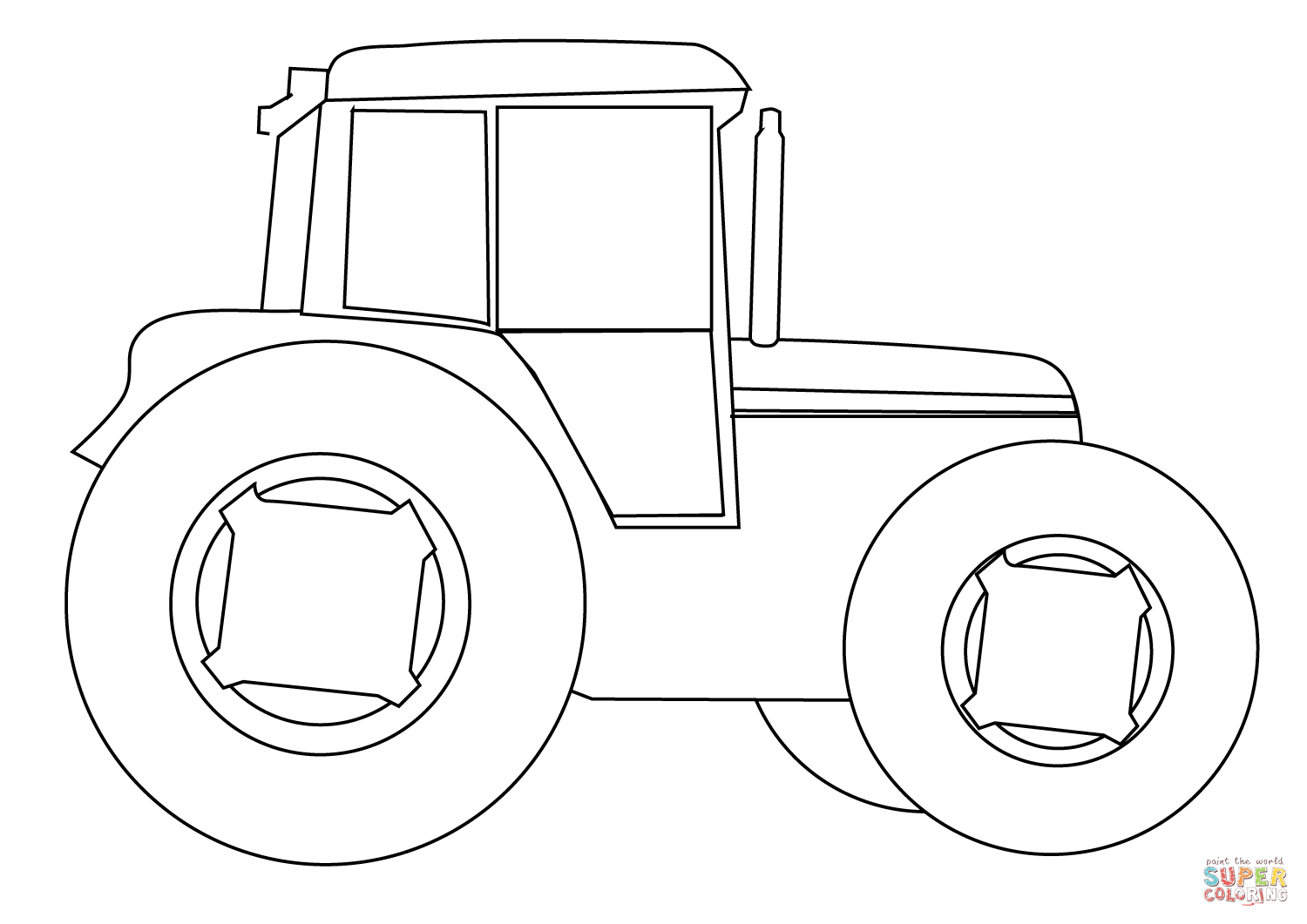 Tractor Coloring Pages Farm Tractor Coloring Page Free