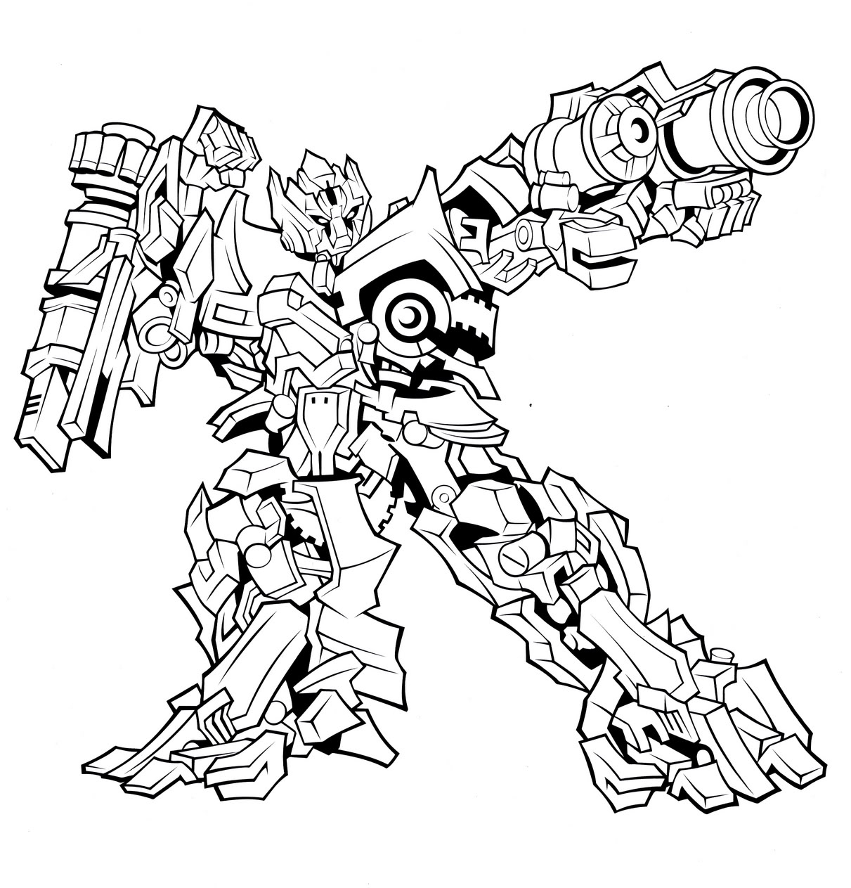 Transformer Coloring Pages Free