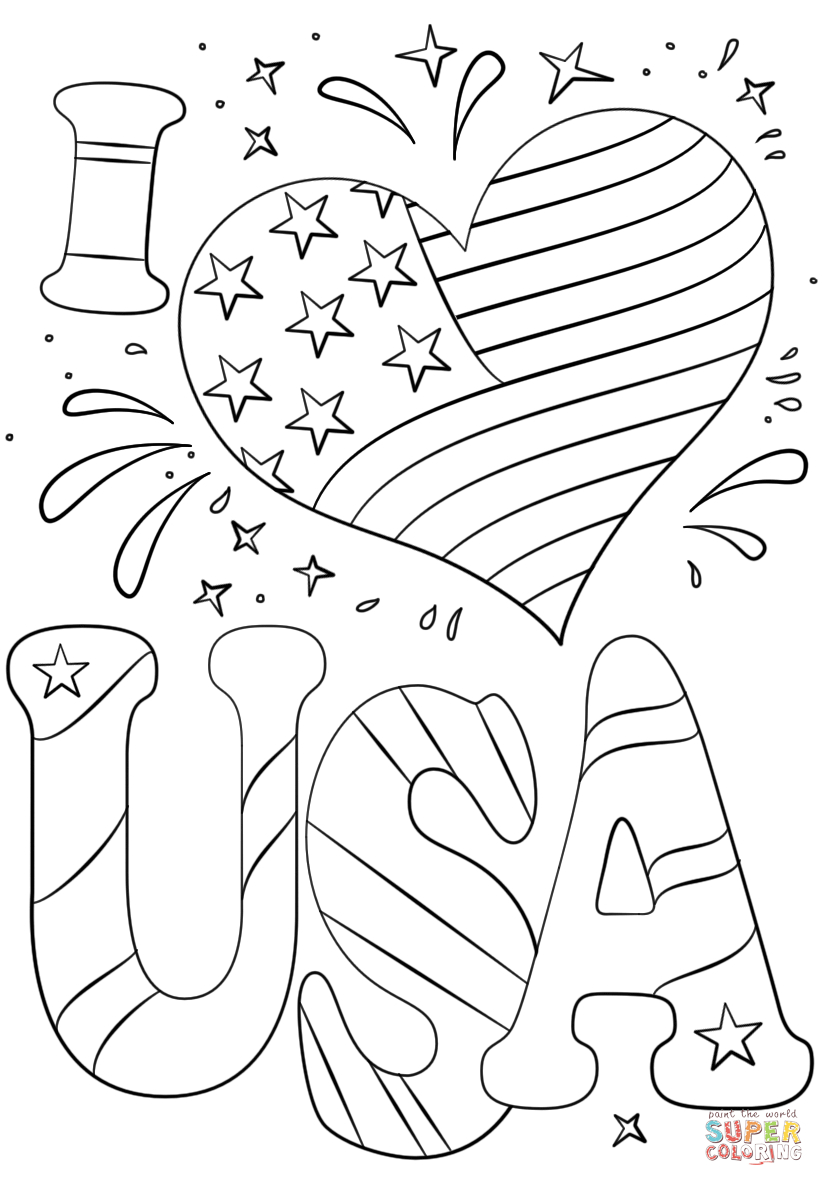 27+ Creative Picture of Usa Coloring Pages